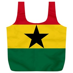 Flag of Ghana Full Print Recycle Bags (L)