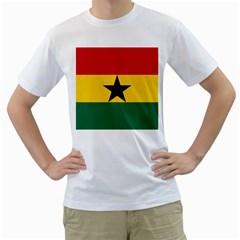 Flag of Ghana Men s T-Shirt (White)