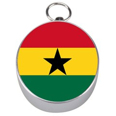 Flag of Ghana Silver Compasses