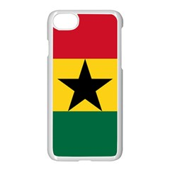 Flag of Ghana Apple iPhone 7 Seamless Case (White)