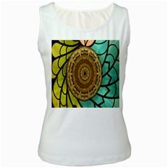Kaleidoscope Dream Illusion Women s White Tank Top
