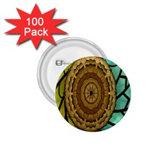 Kaleidoscope Dream Illusion 1 75  Buttons (100 Pack)