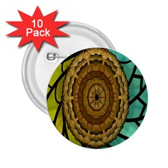 Kaleidoscope Dream Illusion 2 25  Buttons (10 Pack)