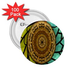 Kaleidoscope Dream Illusion 2 25  Buttons (100 Pack)