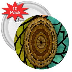 Kaleidoscope Dream Illusion 3  Buttons (10 Pack)