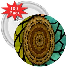 Kaleidoscope Dream Illusion 3  Buttons (100 Pack)