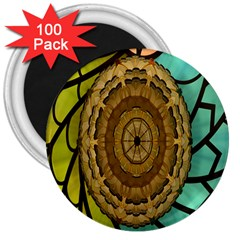 Kaleidoscope Dream Illusion 3  Magnets (100 Pack)
