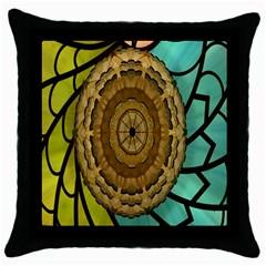Kaleidoscope Dream Illusion Throw Pillow Case (black)