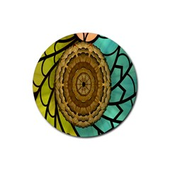 Kaleidoscope Dream Illusion Rubber Round Coaster (4 Pack)