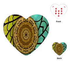 Kaleidoscope Dream Illusion Playing Cards (heart)