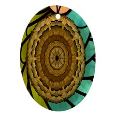 Kaleidoscope Dream Illusion Oval Ornament (Two Sides)