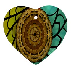 Kaleidoscope Dream Illusion Heart Ornament (two Sides)