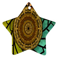 Kaleidoscope Dream Illusion Star Ornament (Two Sides)
