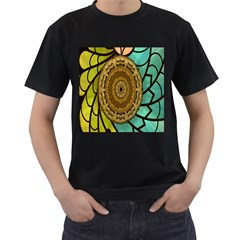 Kaleidoscope Dream Illusion Men s T Shirt (black)