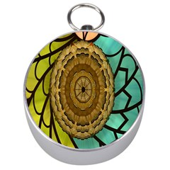 Kaleidoscope Dream Illusion Silver Compasses