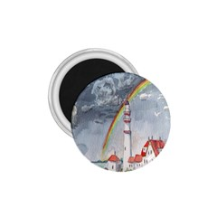 Watercolour Lighthouse Rainbow 1 75  Magnets