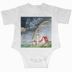 Watercolour Lighthouse Rainbow Infant Creepers
