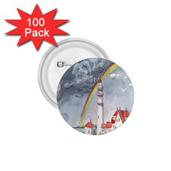 Watercolour Lighthouse Rainbow 1 75  Buttons (100 Pack)