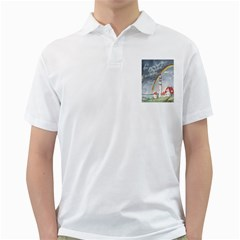 Watercolour Lighthouse Rainbow Golf Shirts
