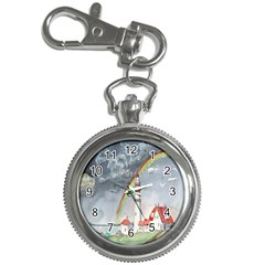 Watercolour Lighthouse Rainbow Key Chain Watches