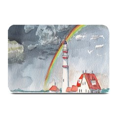 Watercolour Lighthouse Rainbow Plate Mats