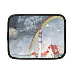 Watercolour Lighthouse Rainbow Netbook Case (small)