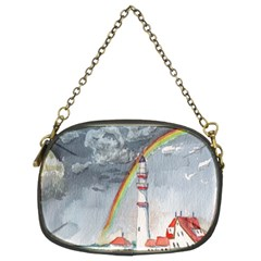 Watercolour Lighthouse Rainbow Chain Purses (Two Sides)