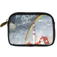 Watercolour Lighthouse Rainbow Digital Camera Cases