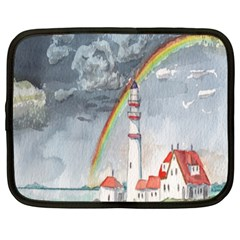 Watercolour Lighthouse Rainbow Netbook Case (xxl)