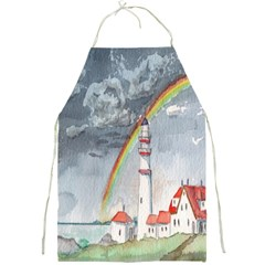 Watercolour Lighthouse Rainbow Full Print Aprons