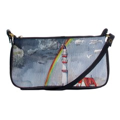 Watercolour Lighthouse Rainbow Shoulder Clutch Bags