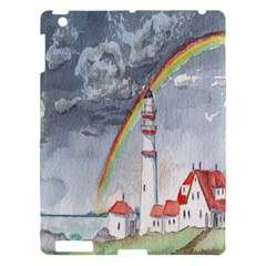 Watercolour Lighthouse Rainbow Apple Ipad 3/4 Hardshell Case