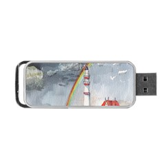 Watercolour Lighthouse Rainbow Portable USB Flash (Two Sides)