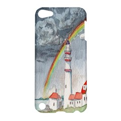 Watercolour Lighthouse Rainbow Apple Ipod Touch 5 Hardshell Case