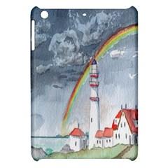 Watercolour Lighthouse Rainbow Apple Ipad Mini Hardshell Case