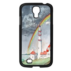 Watercolour Lighthouse Rainbow Samsung Galaxy S4 I9500/ I9505 Case (black)