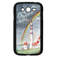 Watercolour Lighthouse Rainbow Samsung Galaxy Grand DUOS I9082 Case (Black)