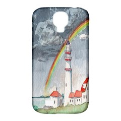 Watercolour Lighthouse Rainbow Samsung Galaxy S4 Classic Hardshell Case (pc+silicone)