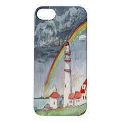 Watercolour Lighthouse Rainbow Apple Iphone 5s/ Se Hardshell Case