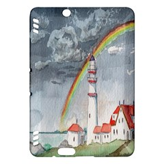 Watercolour Lighthouse Rainbow Kindle Fire Hdx Hardshell Case