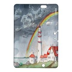 Watercolour Lighthouse Rainbow Kindle Fire Hdx 8 9  Hardshell Case