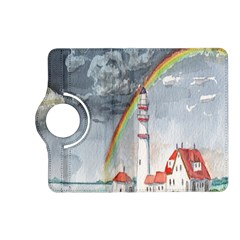 Watercolour Lighthouse Rainbow Kindle Fire Hd (2013) Flip 360 Case