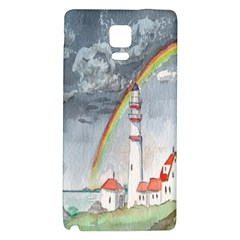 Watercolour Lighthouse Rainbow Galaxy Note 4 Back Case