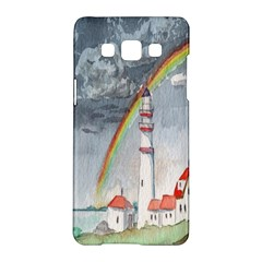 Watercolour Lighthouse Rainbow Samsung Galaxy A5 Hardshell Case