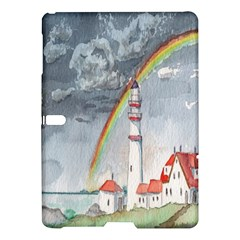 Watercolour Lighthouse Rainbow Samsung Galaxy Tab S (10 5 ) Hardshell Case