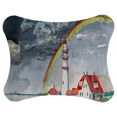 Watercolour Lighthouse Rainbow Jigsaw Puzzle Photo Stand (Bow)