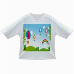 Landscape Sky Rainbow Garden Infant/toddler T Shirts