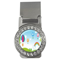 Landscape Sky Rainbow Garden Money Clips (cz)