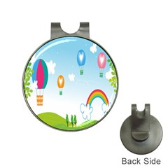 Landscape Sky Rainbow Garden Hat Clips With Golf Markers