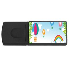 Landscape Sky Rainbow Garden USB Flash Drive Rectangular (4 GB)